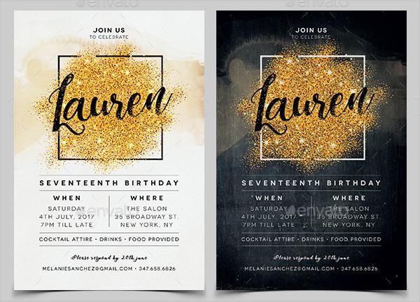 Elegant Invitation Design for Birthday