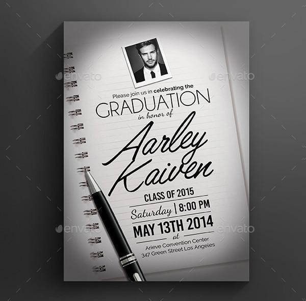 Elegant Graduation Invitation Design