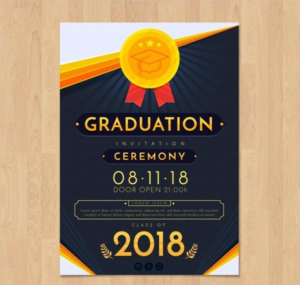 Elegant Graduation Invitation Template Free
