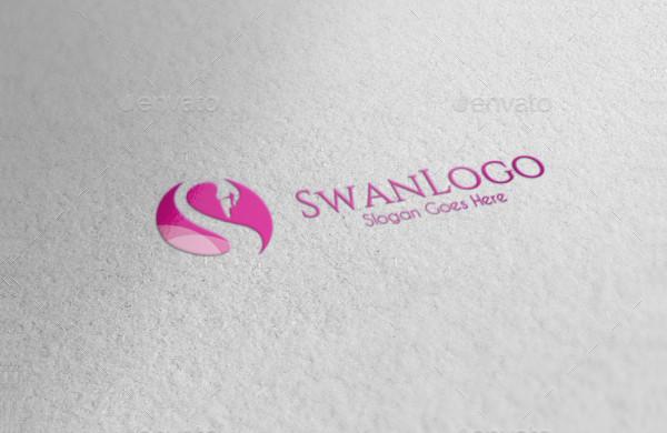 Elegant Swan Logo Template