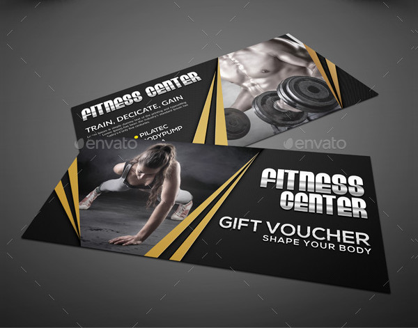 Custom Fitness Center Voucher Template