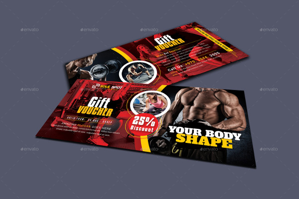 Simple Fitness Gift Voucher Template