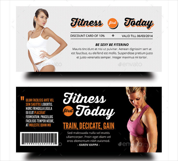 Fitness & Health Promotional Voucher Template