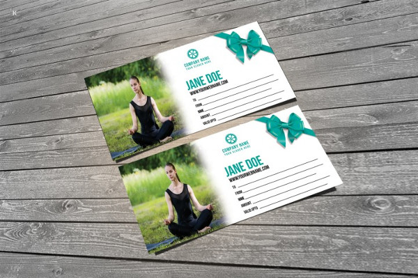 Fitness Yoga Voucher Template