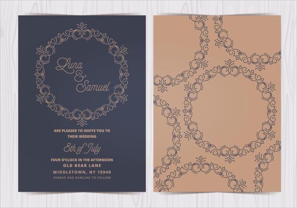 Free Elegant Wedding Invite Download