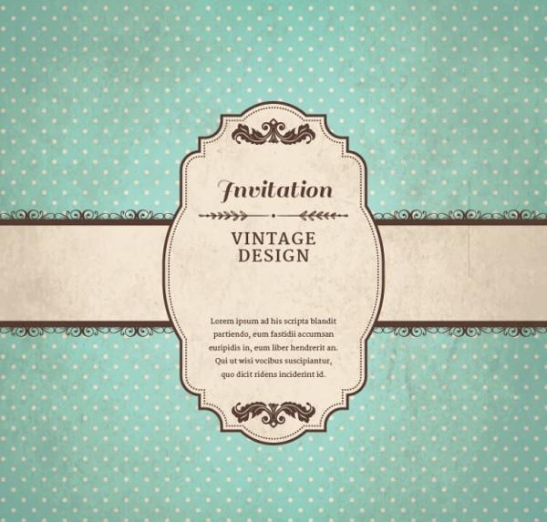 Free Vintage Invitation Template Download