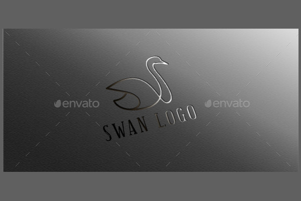 Fully Editable Swan Logo Design