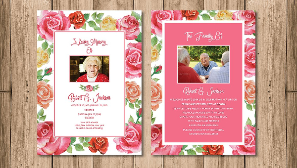 Funeral Invitation Templates