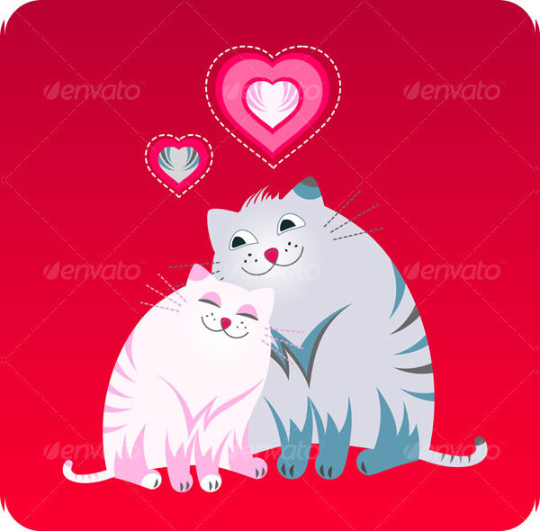 Funny Love Greeting Card with Pets