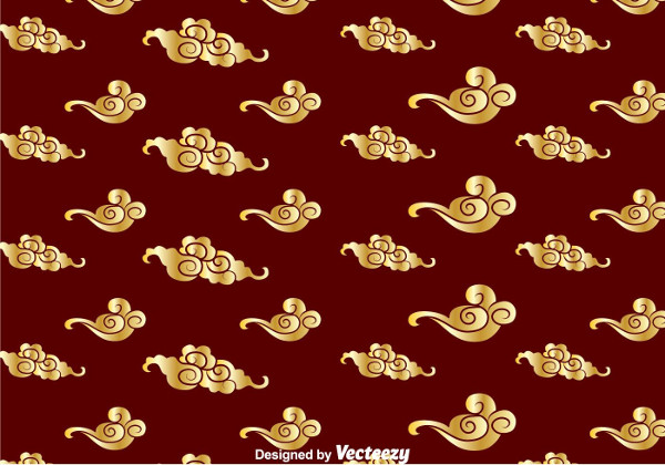 Golden Chinese Cloud Pattern Free Download