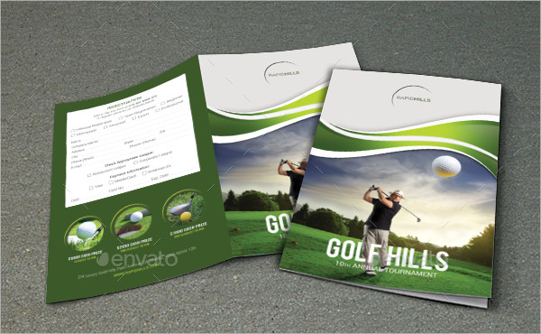 Golf Event Brochure PSD Template