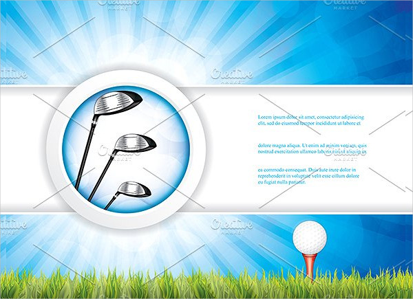 Golf Brochure Vector Illustration