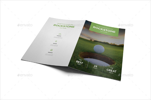 Golf Marketing Brochure Template