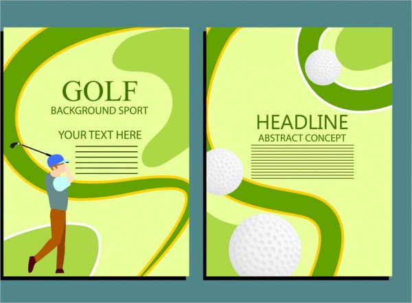 Golf Sport Brochure Design Free Download