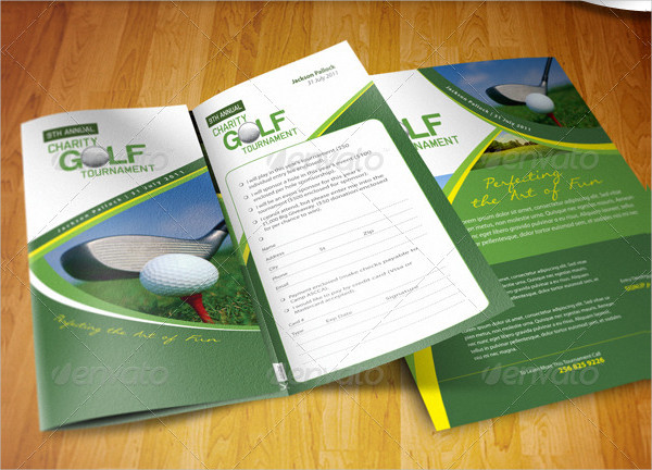Golf Tournament Brochure Trifold & Flyer Ad