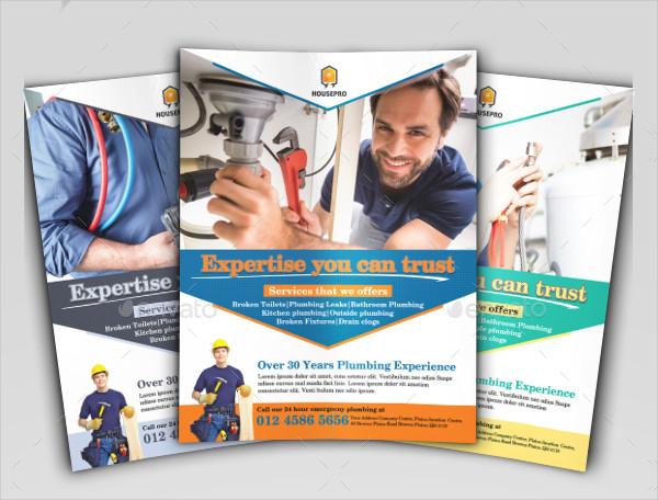Cool Handyman Service Flyer Template