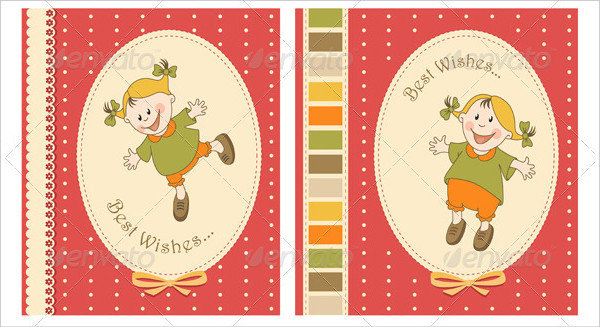 Happy Baby Greeting Card Templates