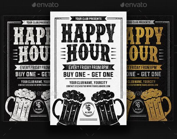 Happy Hour Design Flyer Templates