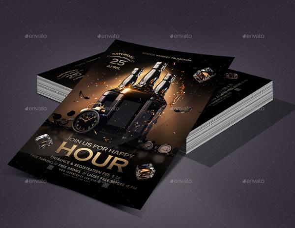 Happy Hour Event Flyer Design