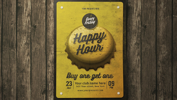 27+ Happy Hour Flyers