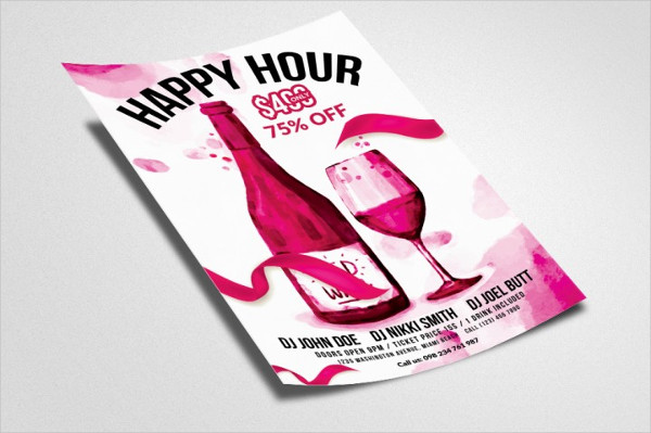 Happy Hour Print Flyer Template