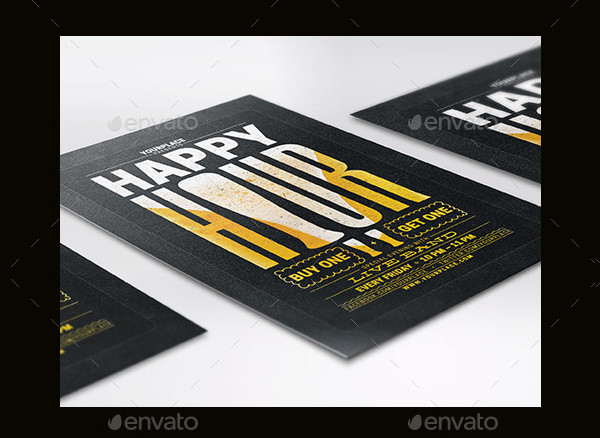 Printable Happy Hour Beer Poster or Flyer Template