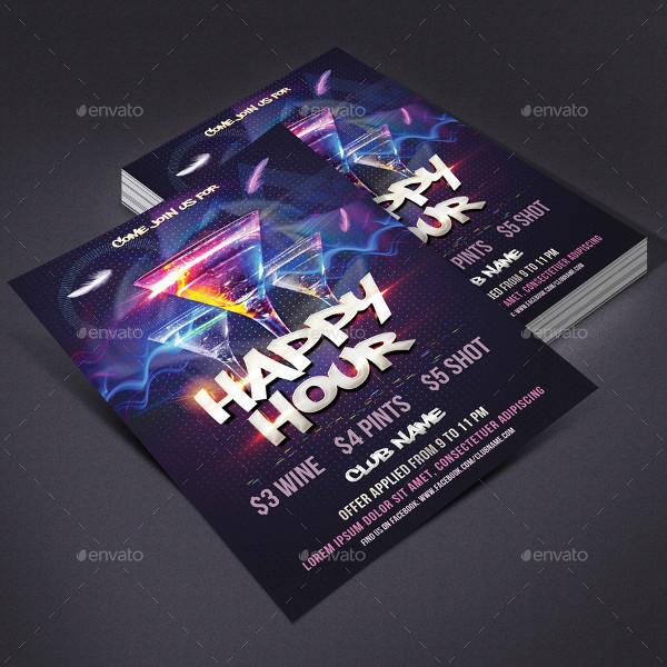 Modern Happy Hour Club Flyer