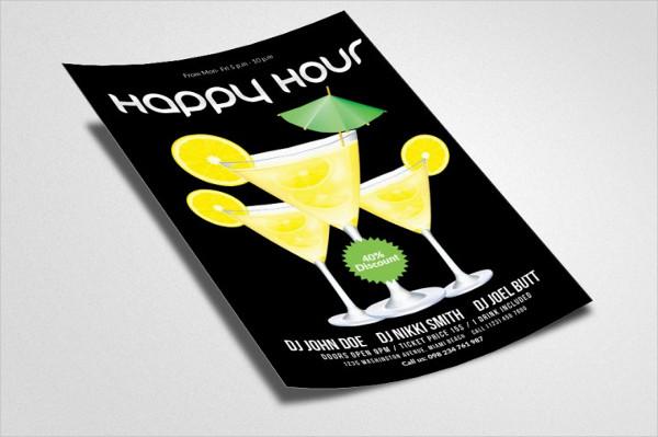 Custom Happy Hours Flyer Template