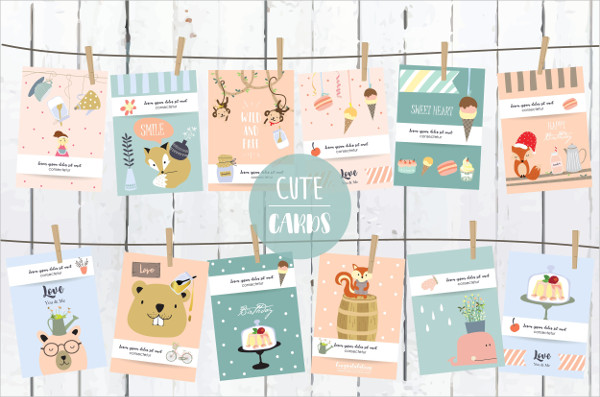 Cute Baby Greeting Card Templates