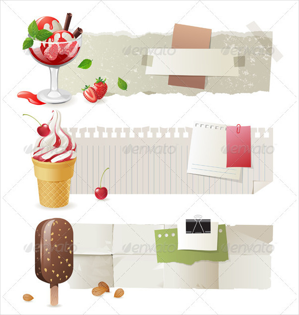 Ice Cream Products Banners