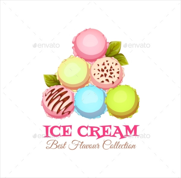 Ice Cream Pyramid Banner With Sample Text
