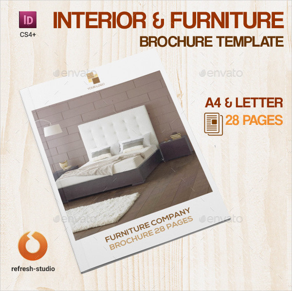 Interior & Furniture A4 Brochure Template