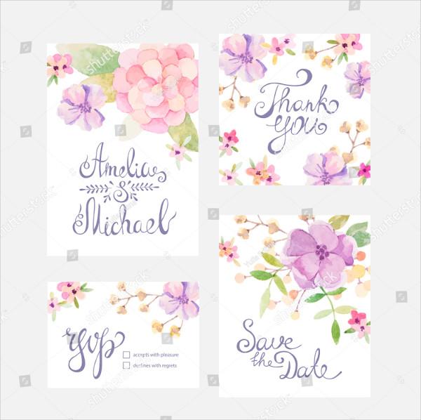 Watercolor Invitation & Greeting Card Design