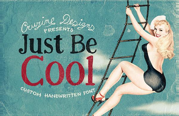Just Be Cool Custom Font