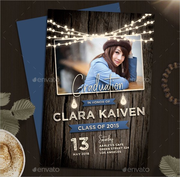 Rustic College Party Invitation Template