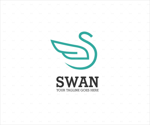 Logo of Swan in Abstract Style