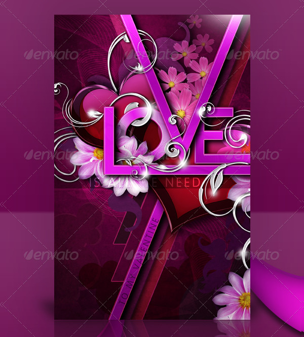 Love Pink Valentine's Day Greeting Card