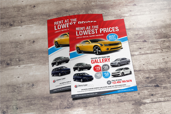 Luxury Car Rental Flyer Design