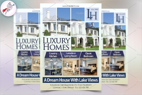 Luxury Homes Real Estate Flyer Template