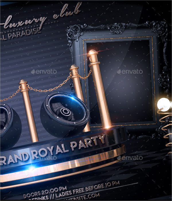 Luxury Private Party Flyer Template