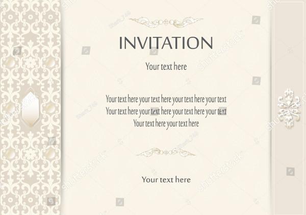 Luxury Vintage Invitations Card Template Vector