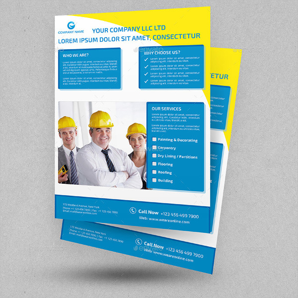 Customizable Construction Flyer Template