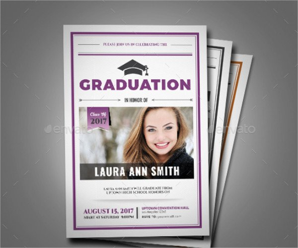 Modern College Invitation Card Template