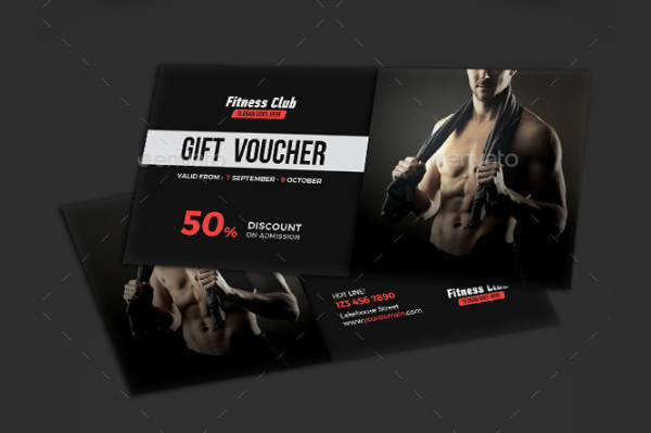 Modern Fitness Voucher Template