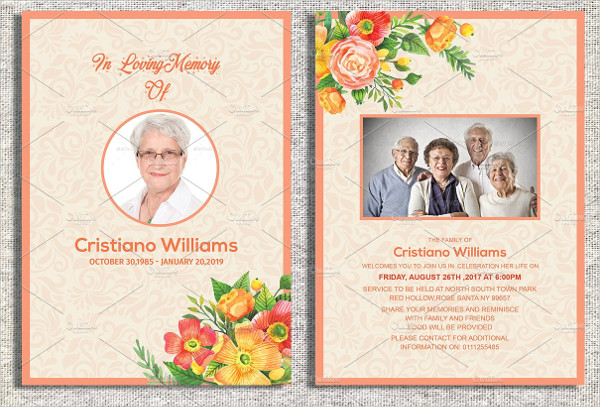 Modern Funeral Invitation Template