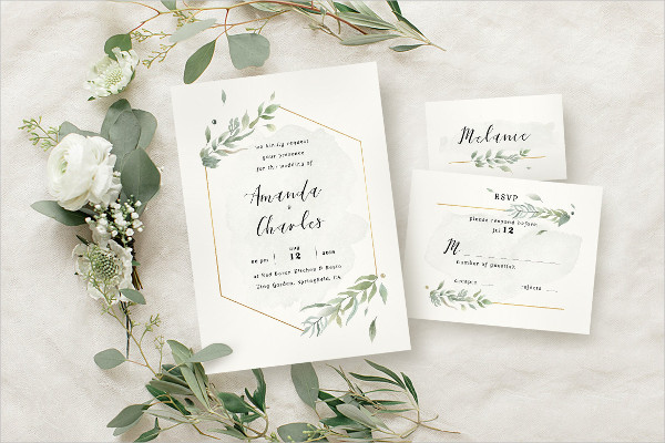 Modern Gold Foliage Wedding Suite