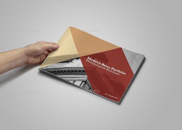 Modern Retro Portfolio Brochure Design