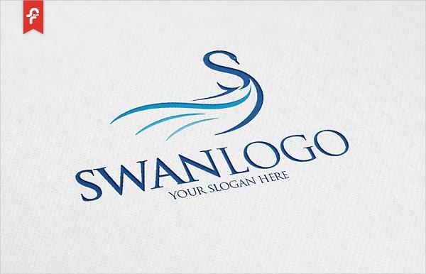 Modern Swan Logo Template