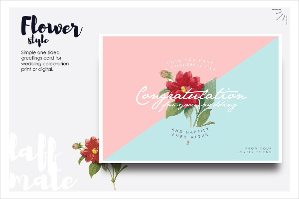Modern Greeting Card for Wedding