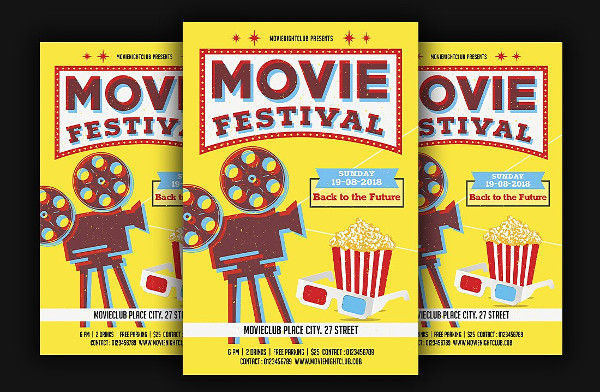 Movie Festival Night Flyer Template